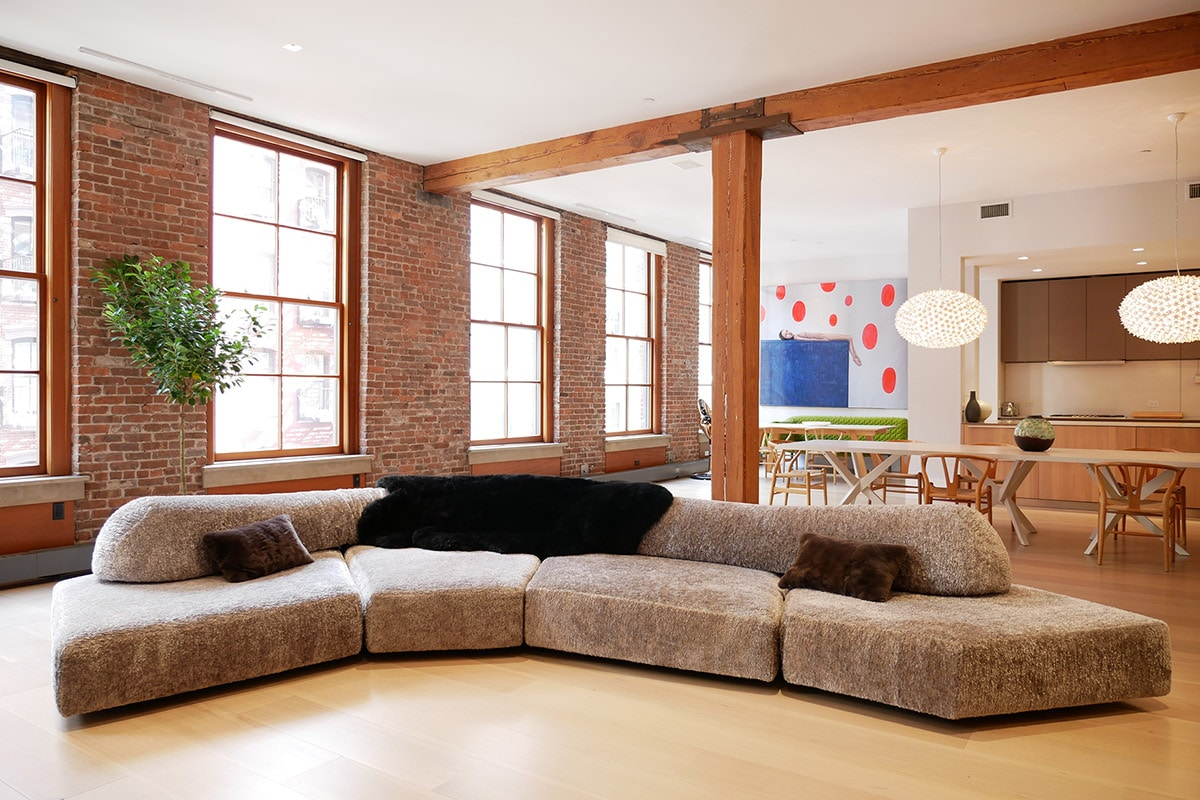 Living Room Sofa with a throw