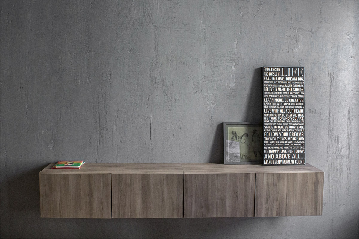 Modern Wall Mounted Credenza Living Room Decor